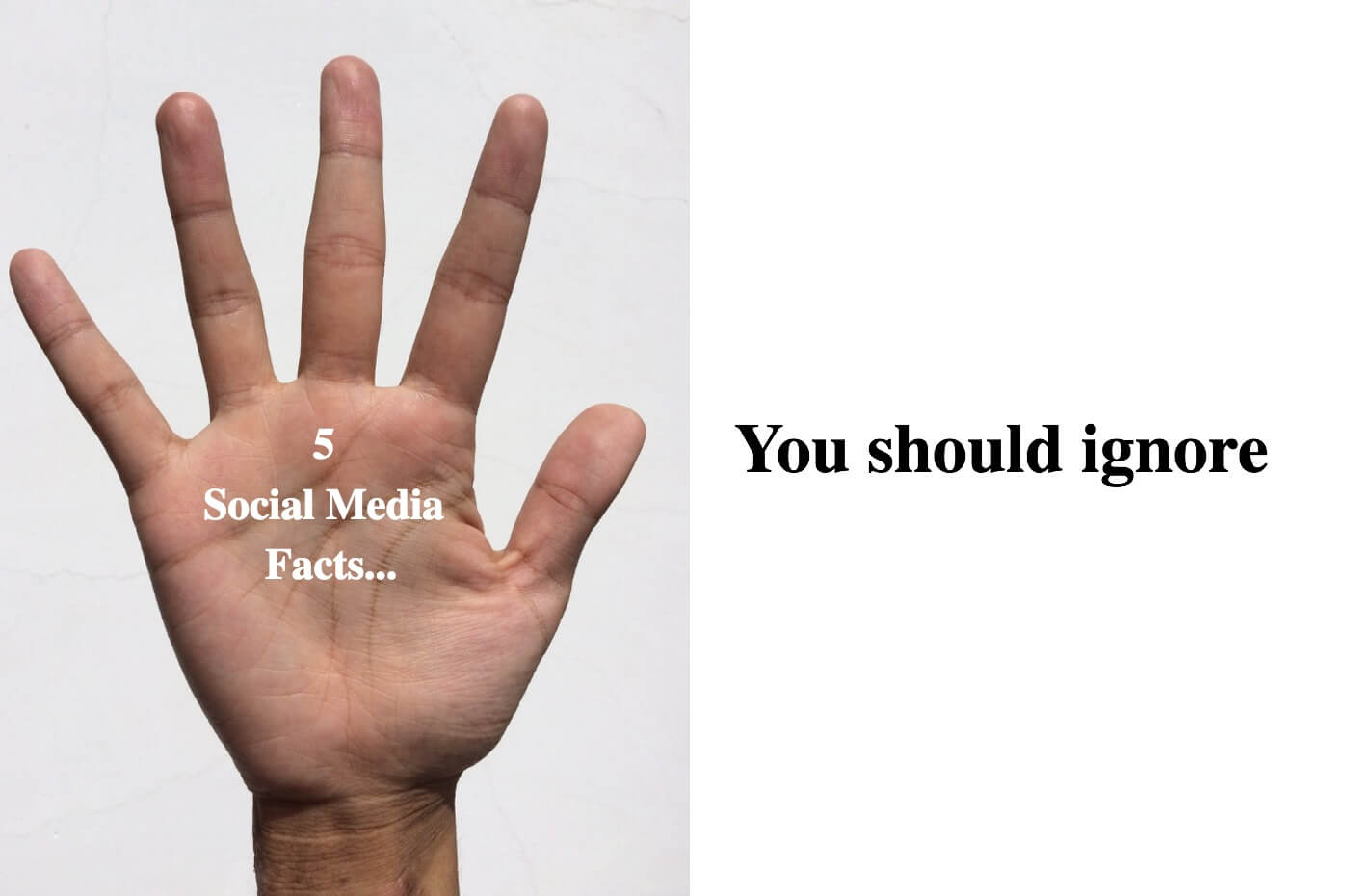 "5 Social Media ""Facts""... You Should Ignore"