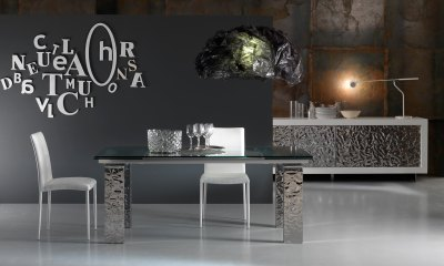 Luxury and Modern crystal dining table MITO by Riflessi-1