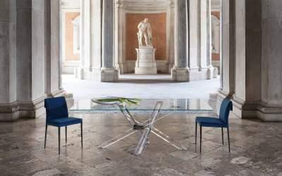Limited Edition Italian Design dining table SHANGAI by Riflessi-shangai-metacrilato-02