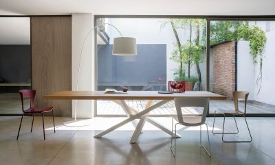 Ultimate and Modern Italian Design dining table SHANGAI by Riflessi-wooden-or-glass-design-table-shangai-riflessi-detail-2