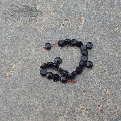antique black glass sew on beads