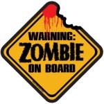Die Cut Magnet: Zombie on Board 3.5×3.5