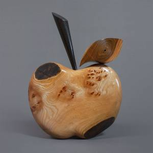 Burr Elm Apple Sculpture