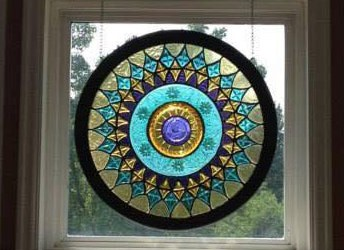 Oval Stained Glass Frames