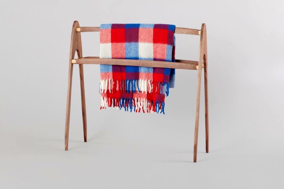 Walnut Blanket Rack