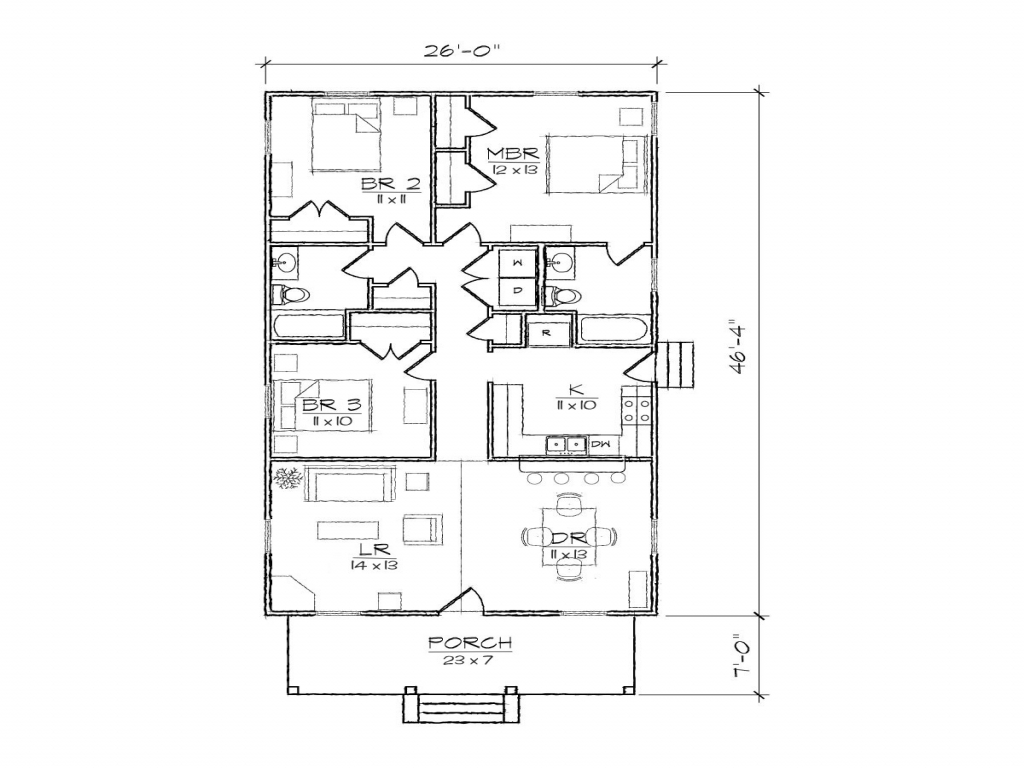 4 Bedroom 3 Car Garage Floor Plans