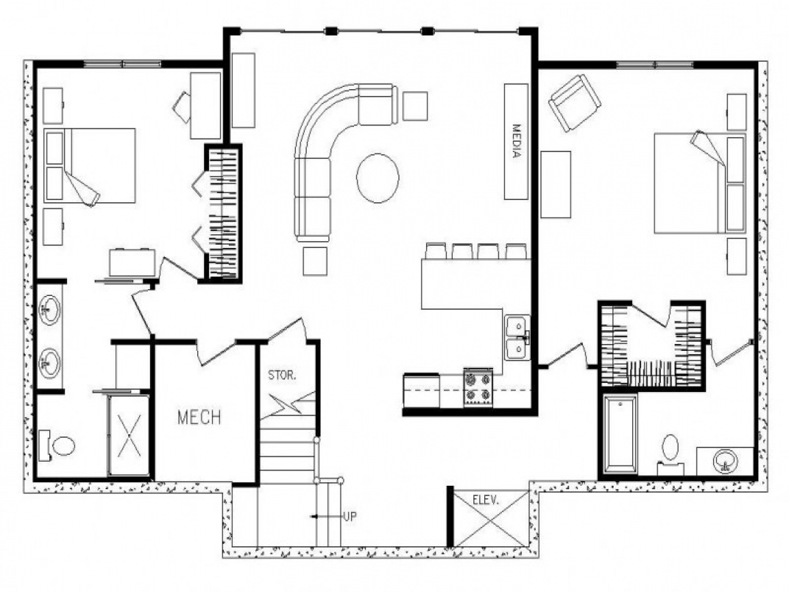 Rectangular Ranch House With 3 Car Garage Rectangular Ranch House Floor Plans Rectangular Floor