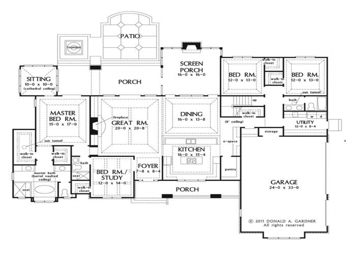 Open House Plans With Large Kitchens Open House Plans With