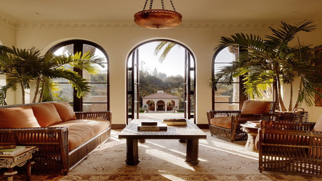 British West Indies Style British Colonial Style Living