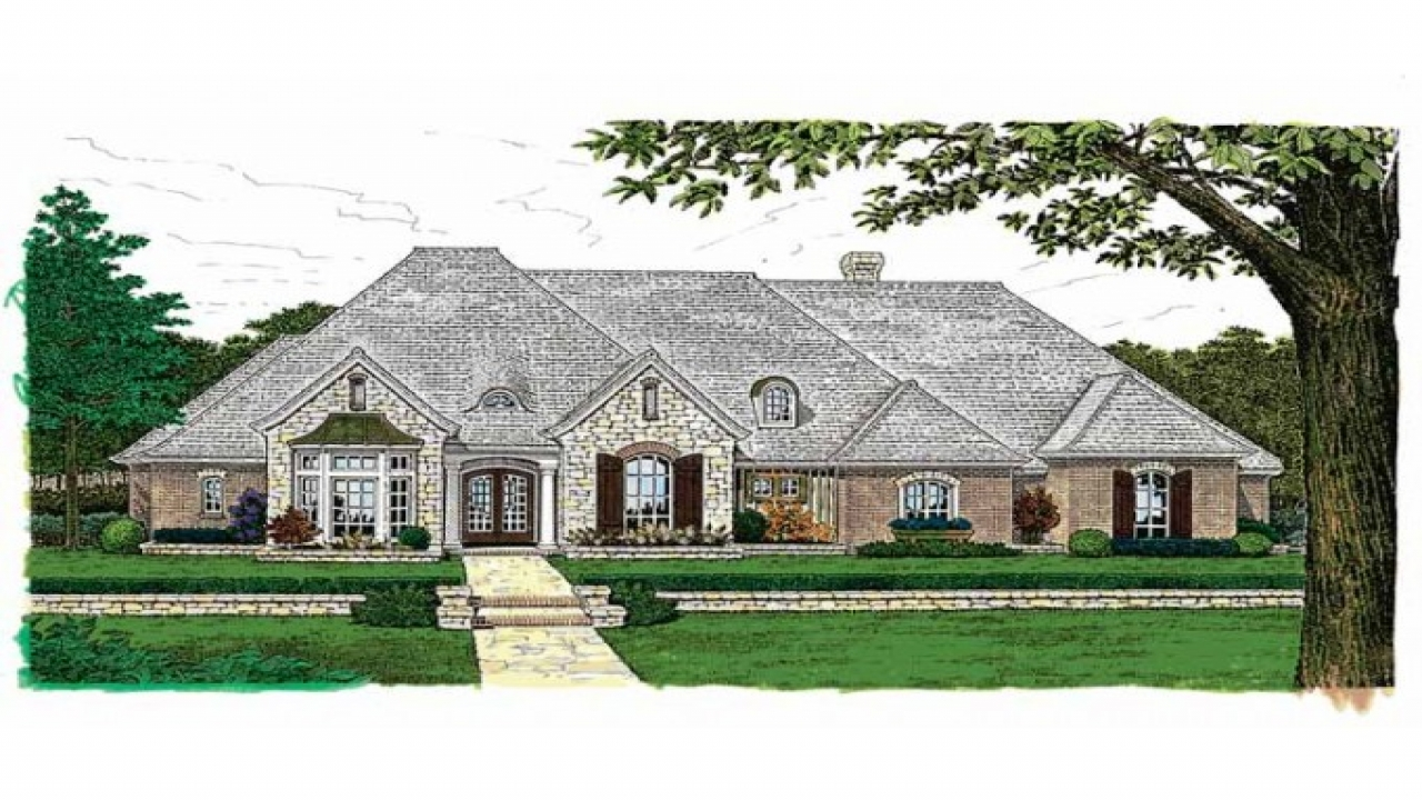 French Country House Plans One Story Country Ranch House