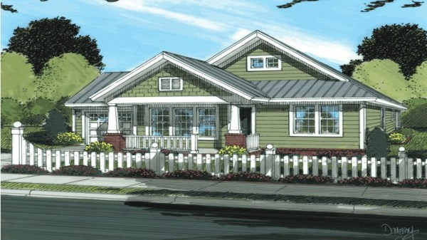 Modern Ranch Style House Plans Craftsman Style Bungalow