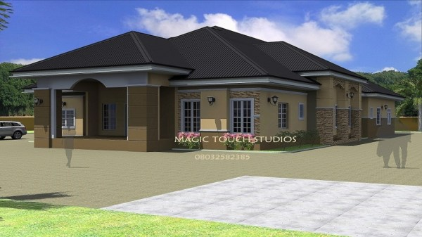 4Bedroom Ranch House 4 Bedroom Bungalow House bungalows