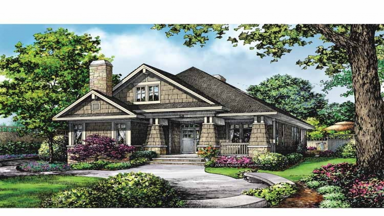 Style Homes Open Floor Craftsman Plans