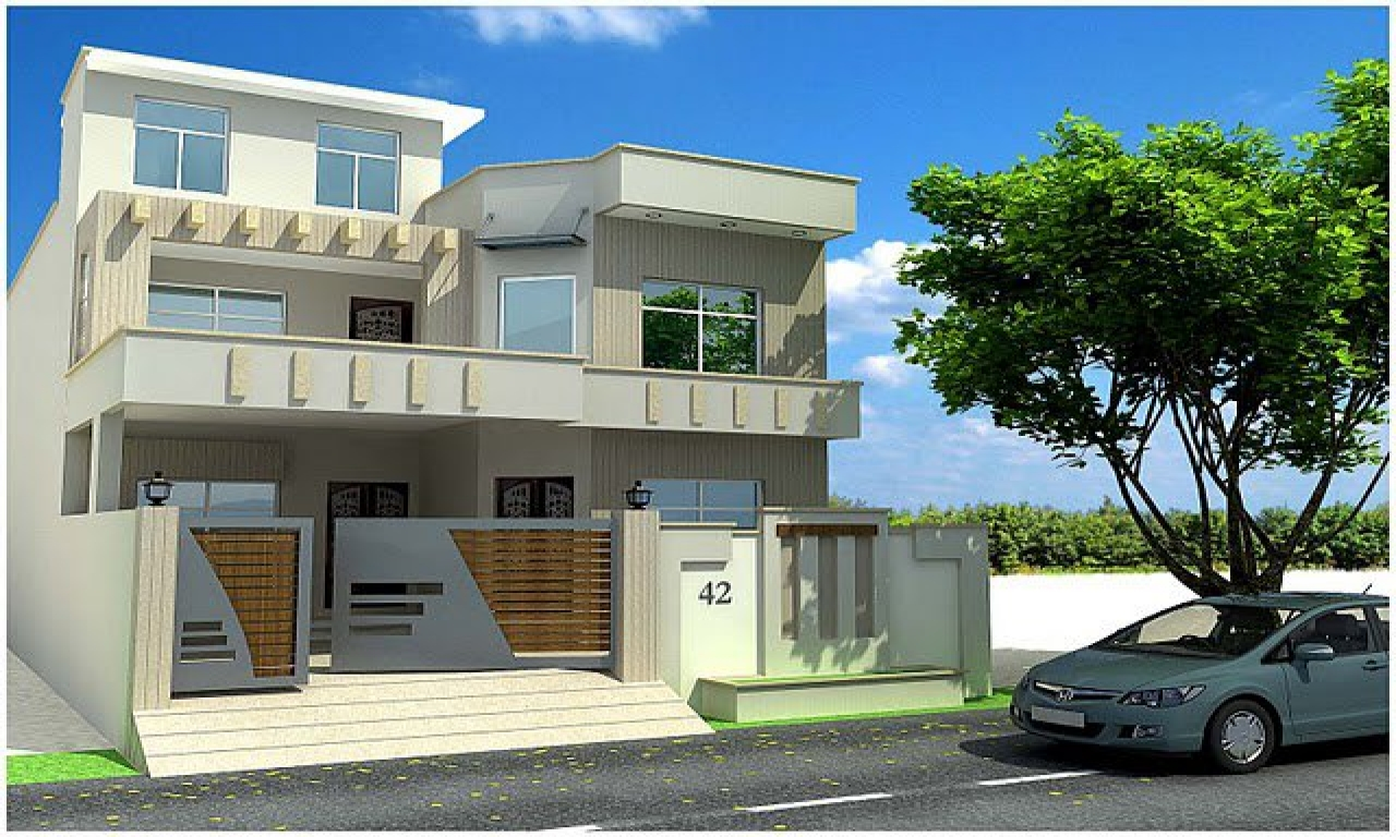Front elevation house photo gallery design front elevation, 20 x 38 house plans