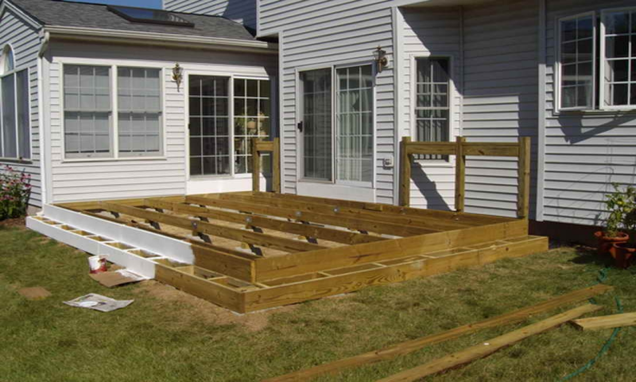 Floating Deck Plans Designs Floating Deck Against House