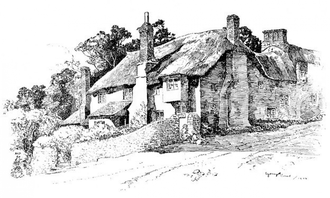Pen And Ink Drawings Of Old English Cottages Abstract Pen
