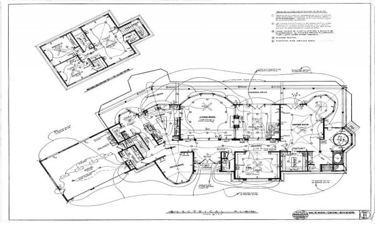 House Electrical Blueprints Residential Electrical Plan