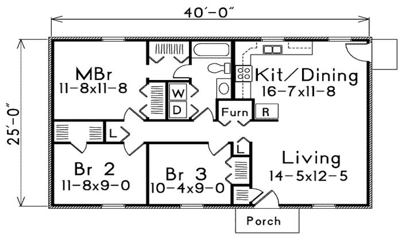 Square Foot House Plans 1 Bedroom 800 Square Foot