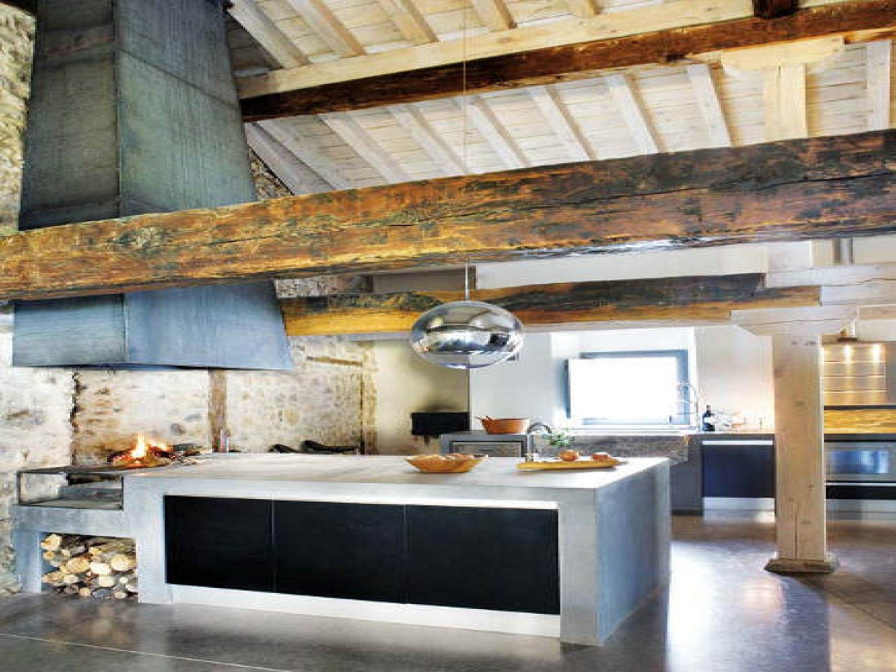 Rustic Farmhouse Kitchens Rustic And Modern Kitchen Rustic Modern Home Plans