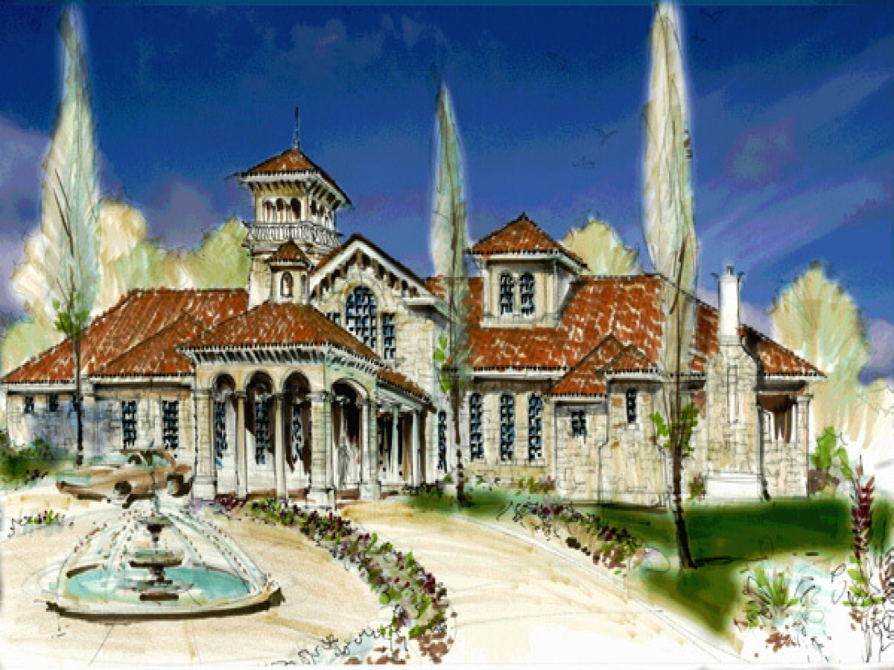 Small Spanish Style Homes Small Tuscan Style Home Plans
