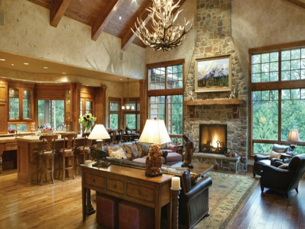 Rustic Open Floor Plans for Ranch Style Homes Open Floor