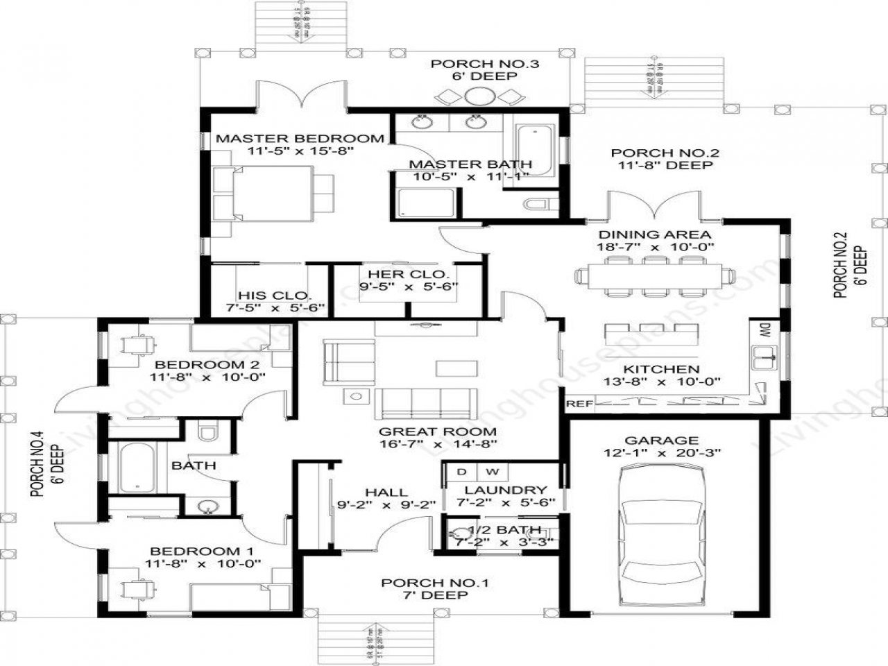 4 Bedroom Home Floor Plans Home Floor Plan Small Home