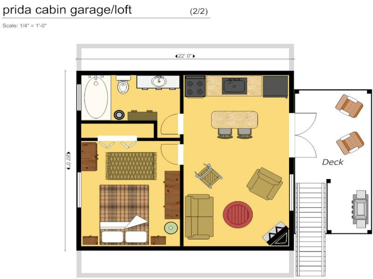 12 X 30 Cabin Floor Plan
