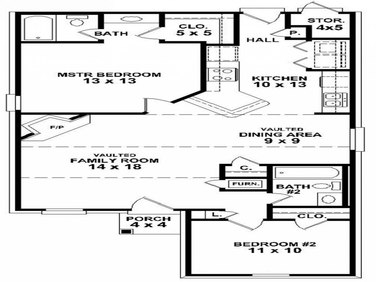 Stunning Plan For Two Bedroom House 23 Photos