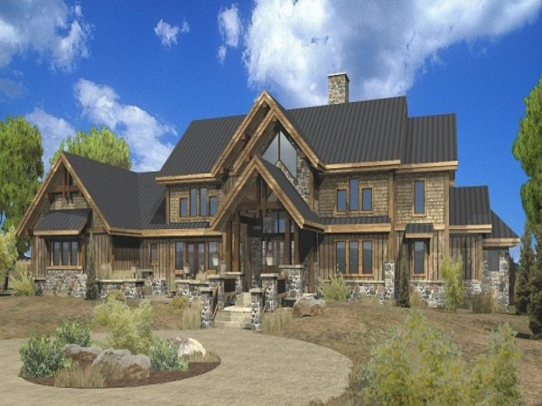 Large Estate Log Home Floor Plans Luxury Mountain Log ...