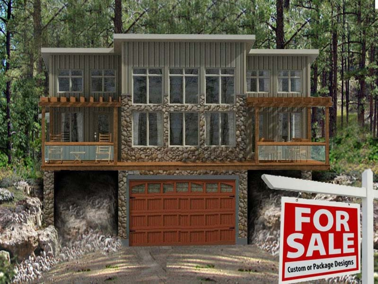 Cabin House Plans With Garage Lake Cabin House Plans
