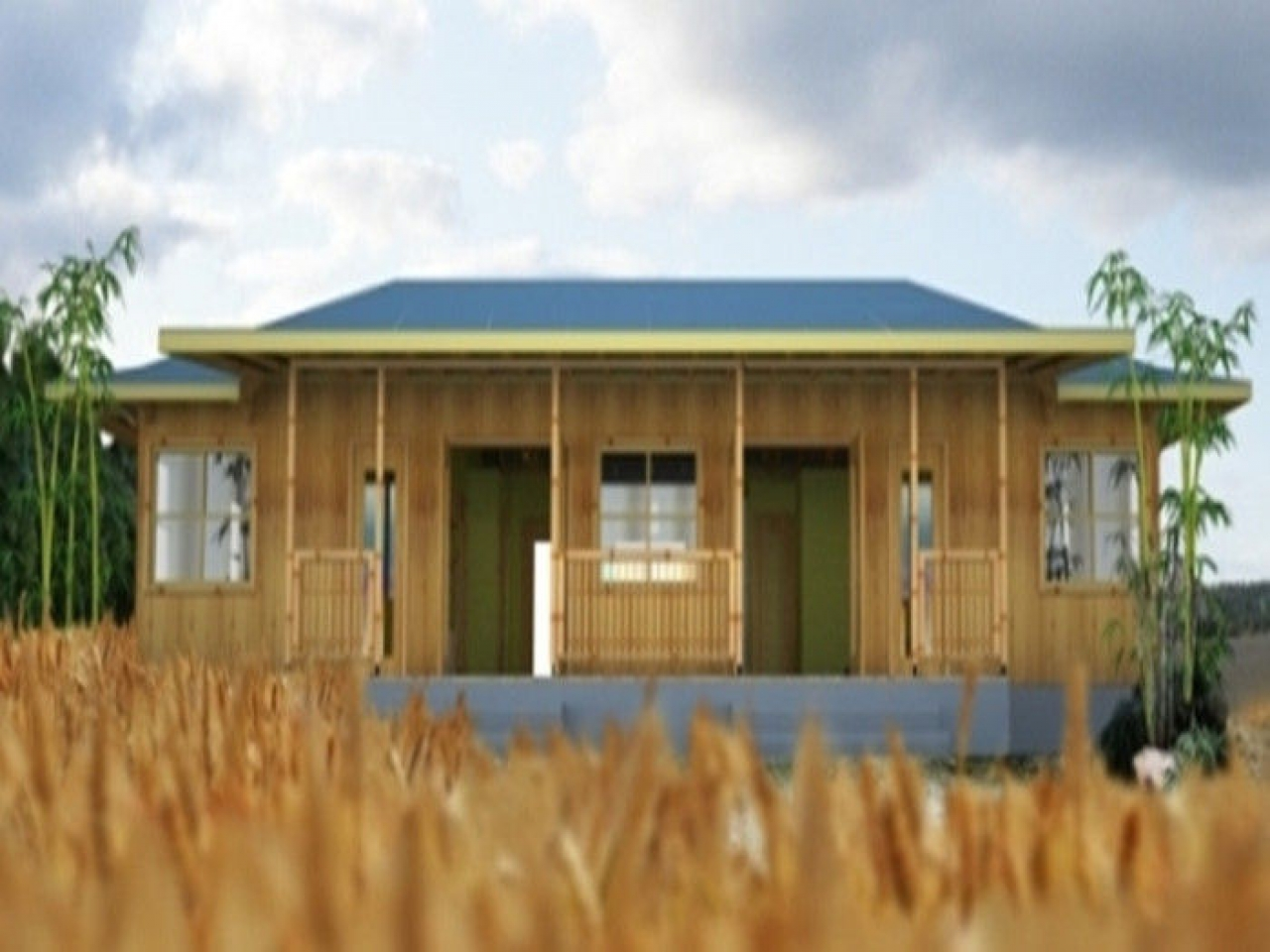 Economic Portable Prefab Bungalow Houses One Bedroom