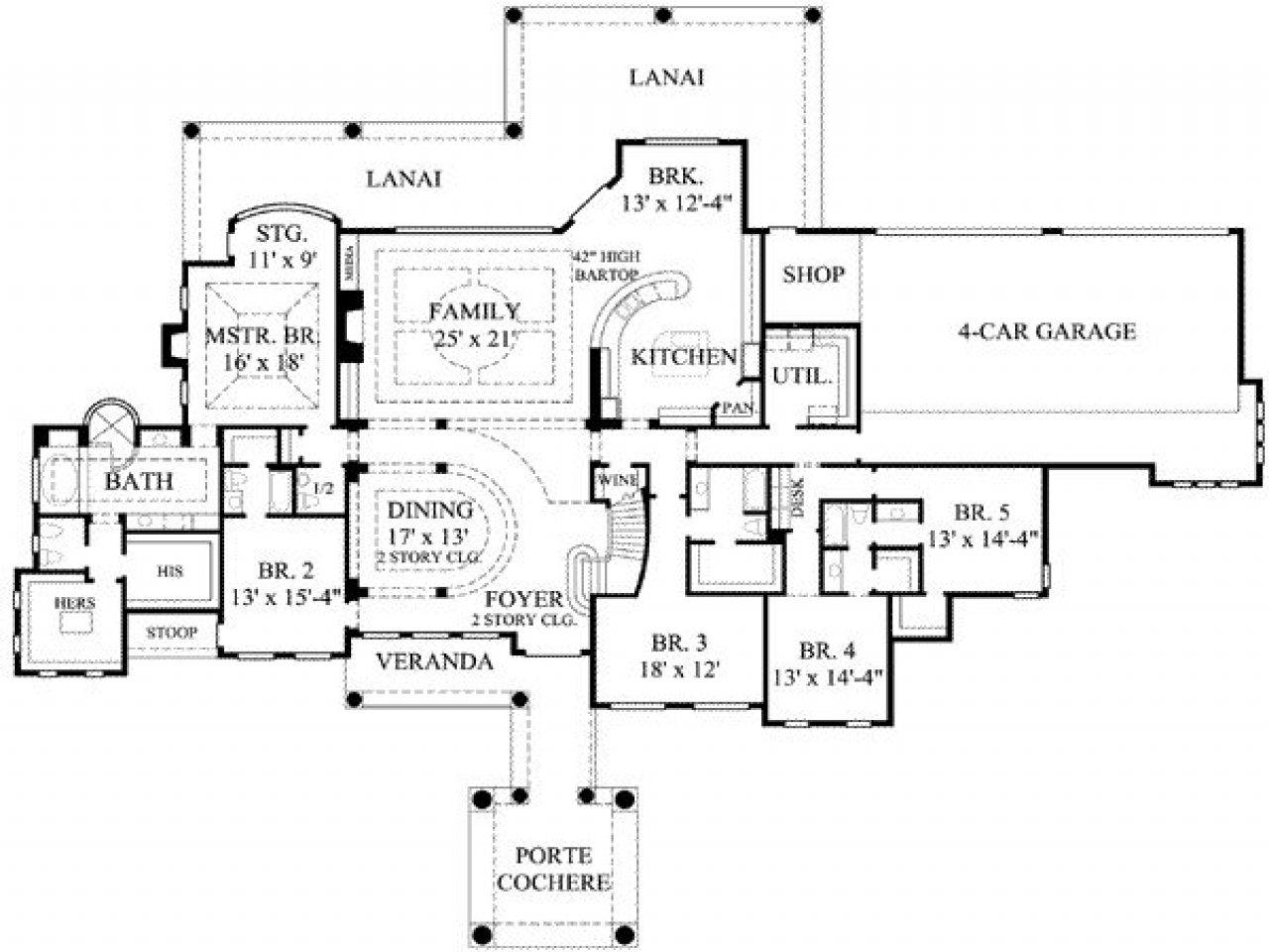 Simple 5 Bedroom House Plans 7 Bedroom House Plans 7
