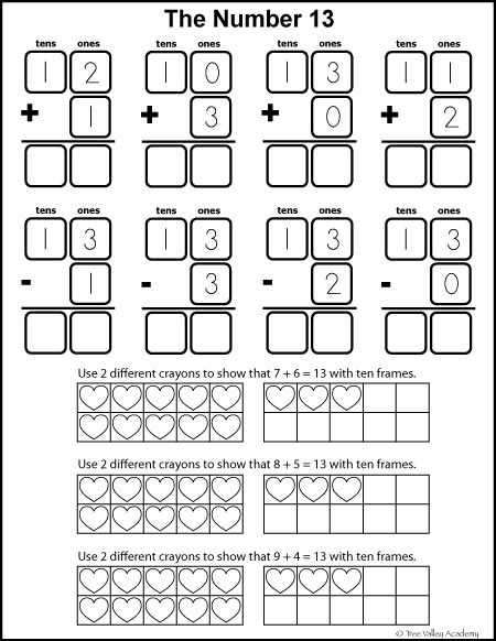 Free math printables for Kindergarten and Grade 1. Number