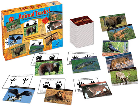 Educational Science Gift For 5-6 year olds: Animal Tracks Science Game