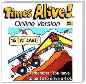 Review of Times Alive, an online program for kids to learn their time tables a more right-brained fun way.