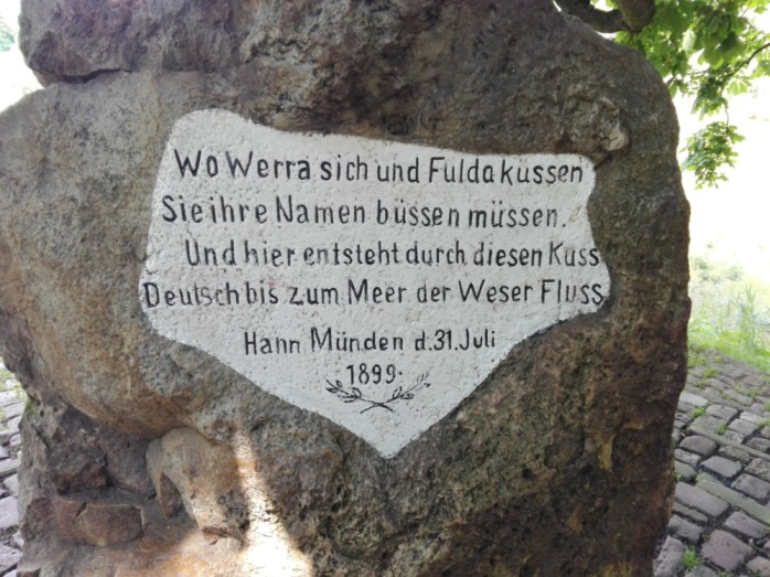 Weser Stein an der Fulda/ Werra