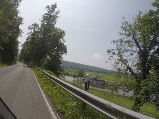 Dampfer vor Reileitzen