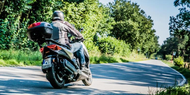 Abfahren mit dem Scooter