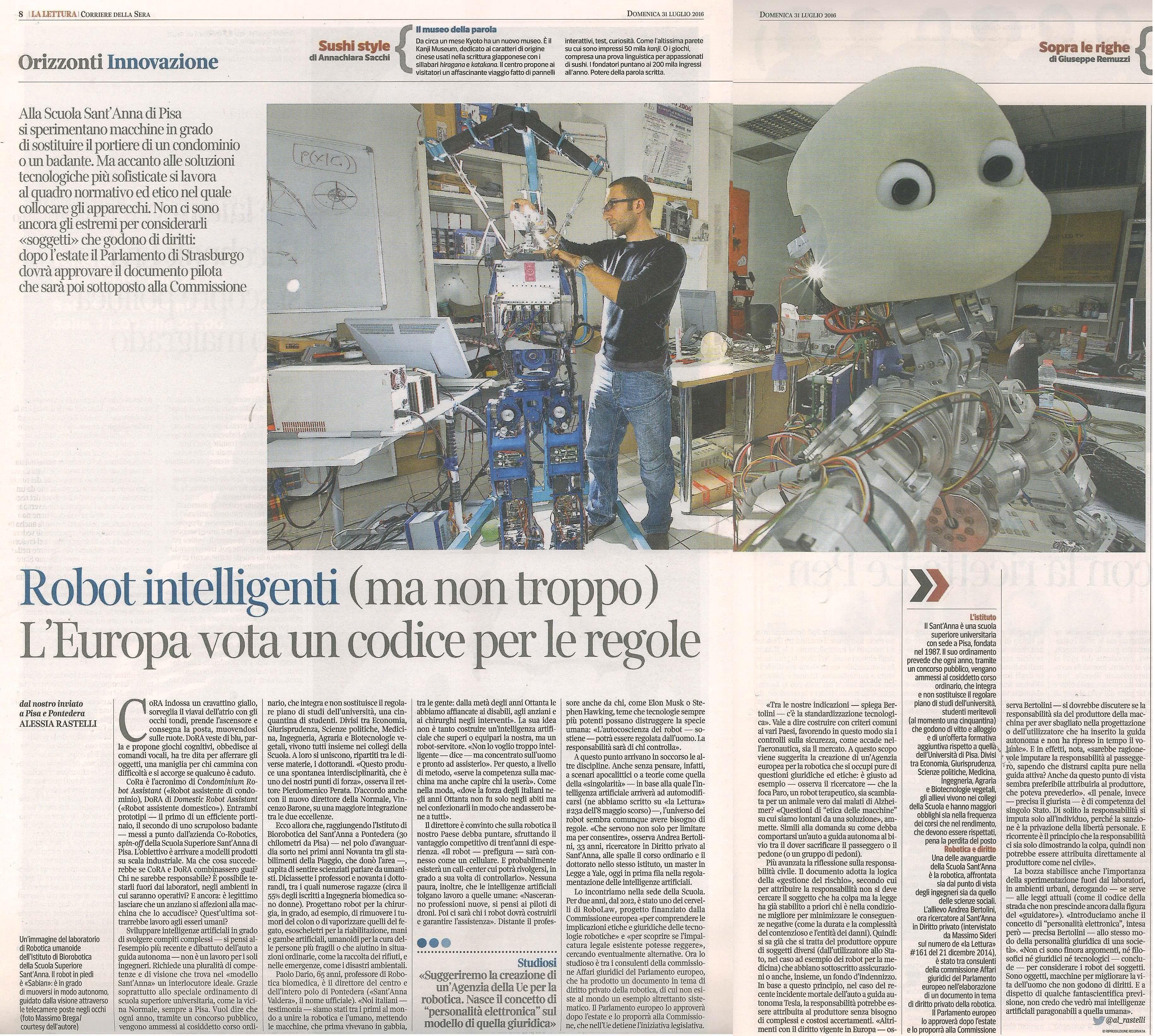 Scuola Sant'Anna di Pisa – Robot