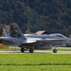F/A-18 Hornet beim Start in Meiringen