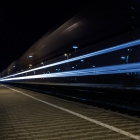 Lightpainting am Bahnsteig