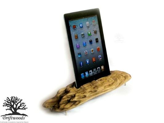 iPad Dockingstation aus Treibholz