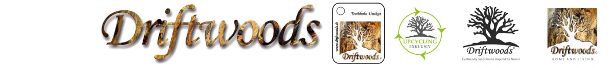 Schrift und Logos Banner Driftwoods