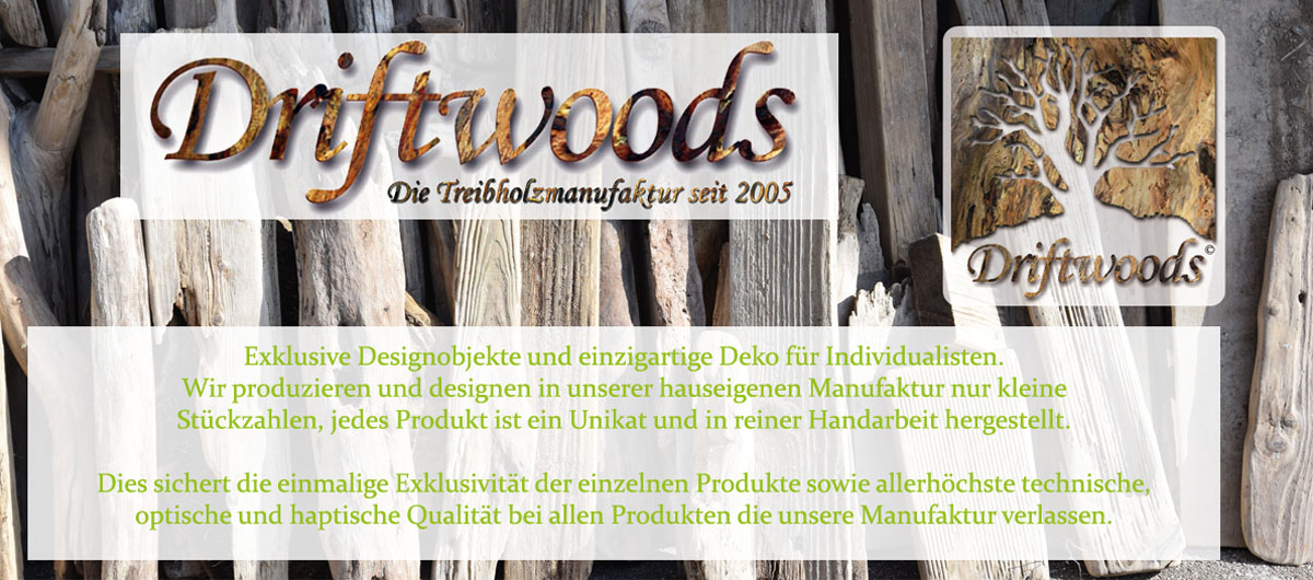 Treibholzmanufaktur Banner mit Logo