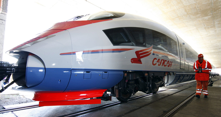 GERMANY-RUSSIA-RAILWAY-TRAIN-VELARO-RZD