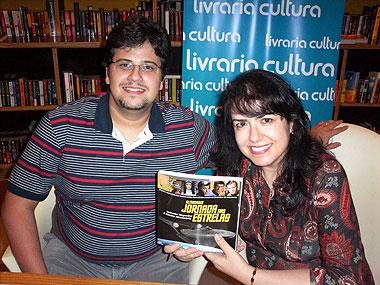 Salvador Nogueira e Susana Alexandria, os autores do lançamento da noite