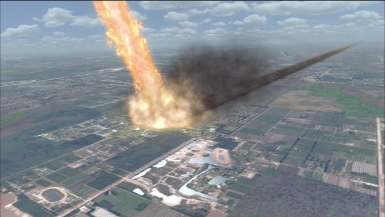 Sonda Xindi destruindo parte da Terra