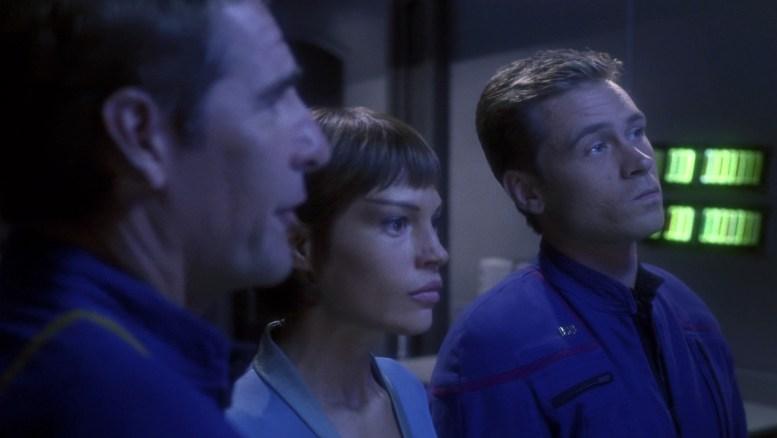 Archer, T'Pol e Trip