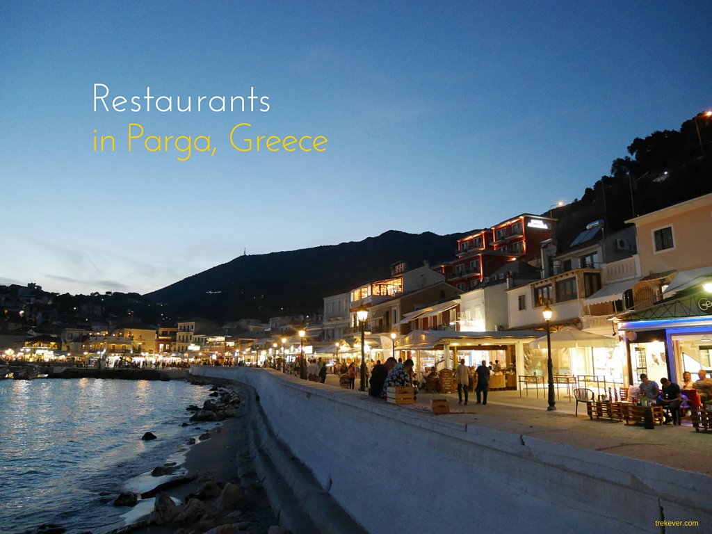 Restaurants in Parga Greece