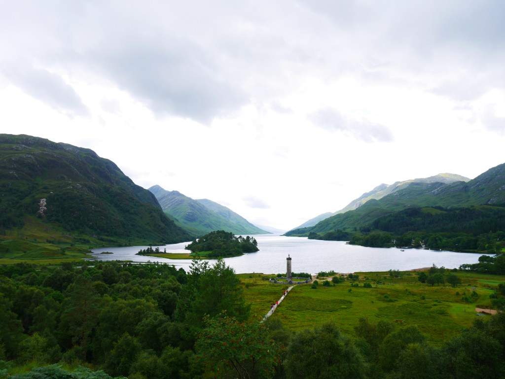 Glenfinnan Monument from the hill